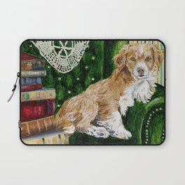 Sir Beckett, Dog With An Education Laptop Sleeve