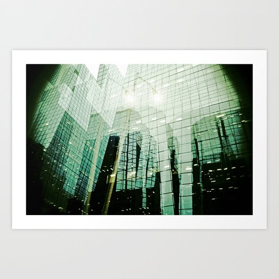 'DOWNTOWN' Art Print