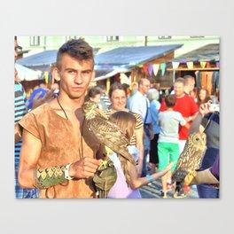 Falcon and Falconer  Canvas Print