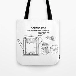 Coffee pot Goldsmith Martyn patent art 1899 Tote Bag