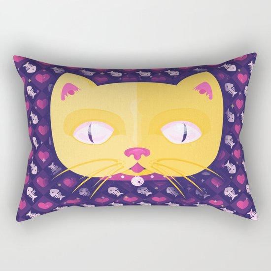Silly Kitty Rectangular Pillow