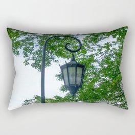 Lamppost Green Rectangular Pillow