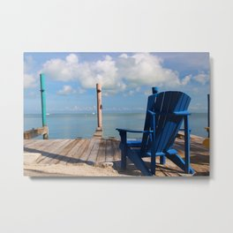 Blue Chair Islamorada Metal Print