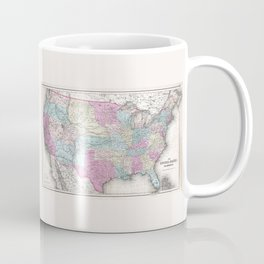 1857 Colton Map of the United States of America Coffee Mug