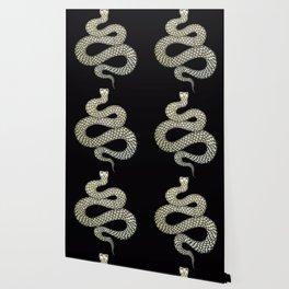 Snake's Charm in Black Wallpaper