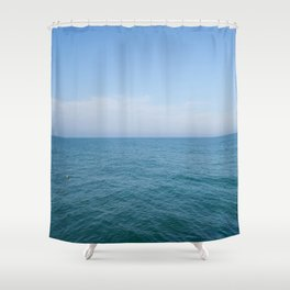 Floating to Blue Shower Curtain