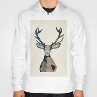 stag Hoodies featuring Stag by The Art Hutch