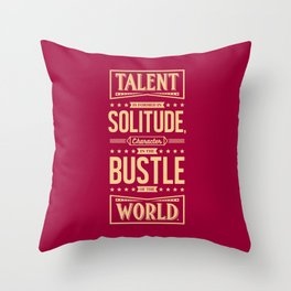 Lab No. 4 Talent Is Formed Johann Goethe Life Motivational Quotes Throw Pillow