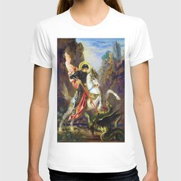 12,000pixel-500dpi - Gustave Moreau - Saint George And The Dragon - Digital Remastered Edition T-shirt