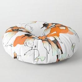 Koi Meditation Floor Pillow