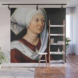 Portrait of Barbara by Albrecht Dürer Wall Mural