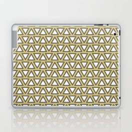 Gold, white and black geometric triangle pattern. Manchester Architecture Collection Laptop & iPad Skin