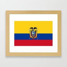 Flag of Ecuador -ecuadorian,Inca,Kichwa,Quito,america, South america,Spanish,Amazonia,latin america Framed Art Print