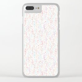 Pastel Party Streamers Vector Clear iPhone Case