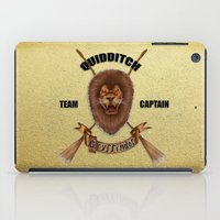 gryffindor iPad Cases featuring Gryffindor Quidditch Team Captain by JanaProject