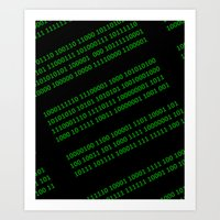 matrix Art Prints featuring Matrix by Birkum Design