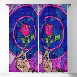 Enchanted Rose Stained Glass Blackout Curtain
