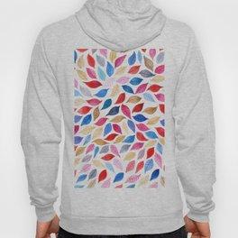 Colorful leaves pattern in watercolor Hoody