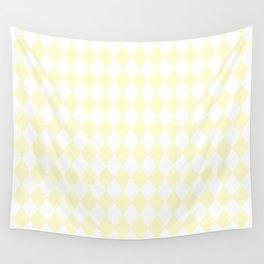 Diamonds (Cream/White) Wall Tapestry