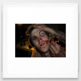 Clown Calling Card Framed Art Print