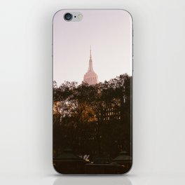 Pink Empire State iPhone Skin