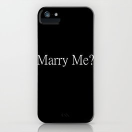 Marry Me? Proposal Tools iPhone Case