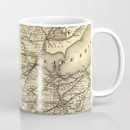 Vintage Michigan, Ohio and Indiana Railroad Map Coffee Mug