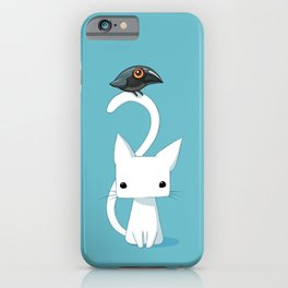 Cat and Raven iPhone Case