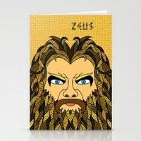 mythology Stationery Cards featuring Greek Mythology ZEUS by TECHNE