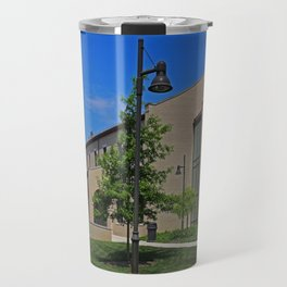 Lourdes University-  Russel J Ebeid Hall with the Peace Prayer Attributed to St Francis Travel Mug