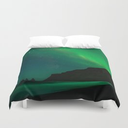 Night with the Northern Lights Duvet Cover