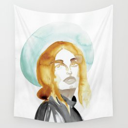 Judy with a Mint-Coloured Hat Wall Tapestry