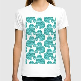 Chinese Guardian Lion Statues in Emerald Jade T-shirt