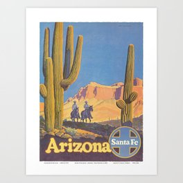 Vintage poster - Arizona Art Print