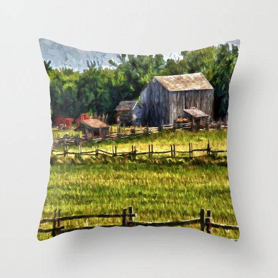 Country Fences 6 Throw Pillow By Gypsykissphotography