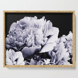 Peony Flower Bouquet Black and White #decor #society6 #buyart Serving Tray