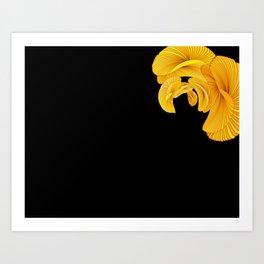 Datadoodle Gold Art Print