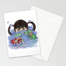 bath time Stationery Cards