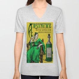 Absinthe Vintage Poster Unisex V-Neck