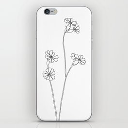 Wild flower botanical drawing - Ilana iPhone Skin