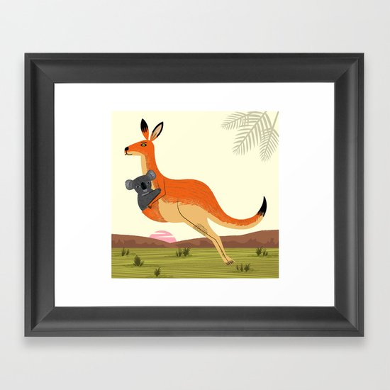 The Kangaroo and The Koala Framed Art Print