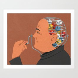 Lotto head Art Print