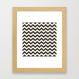 Cola Safari Chevron Framed Art Print