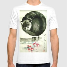 cunning cat MEDIUM White Mens Fitted Tee