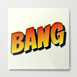 halftone comic book sound effect in pop art style Metal Print