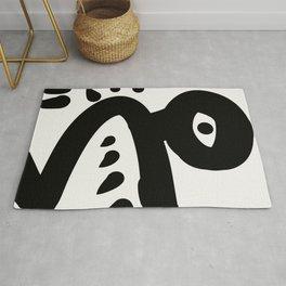 Minimal Primitive African Artwork Rug