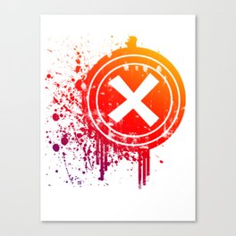 X vector Canvas Print