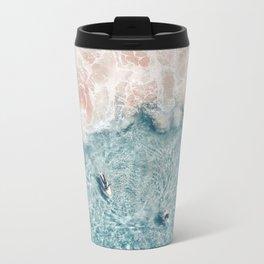Pink Foam Metal Travel Mug