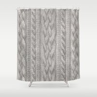knit Shower Curtains featuring Cable Knit by ZHField