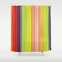 vector Shower Curtains featuring Vector Equilibriums by Elias Zacarias